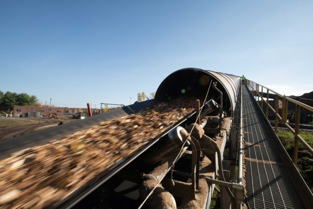 Biomass Material Used for Renewable Electricity at ReEnergy Black River