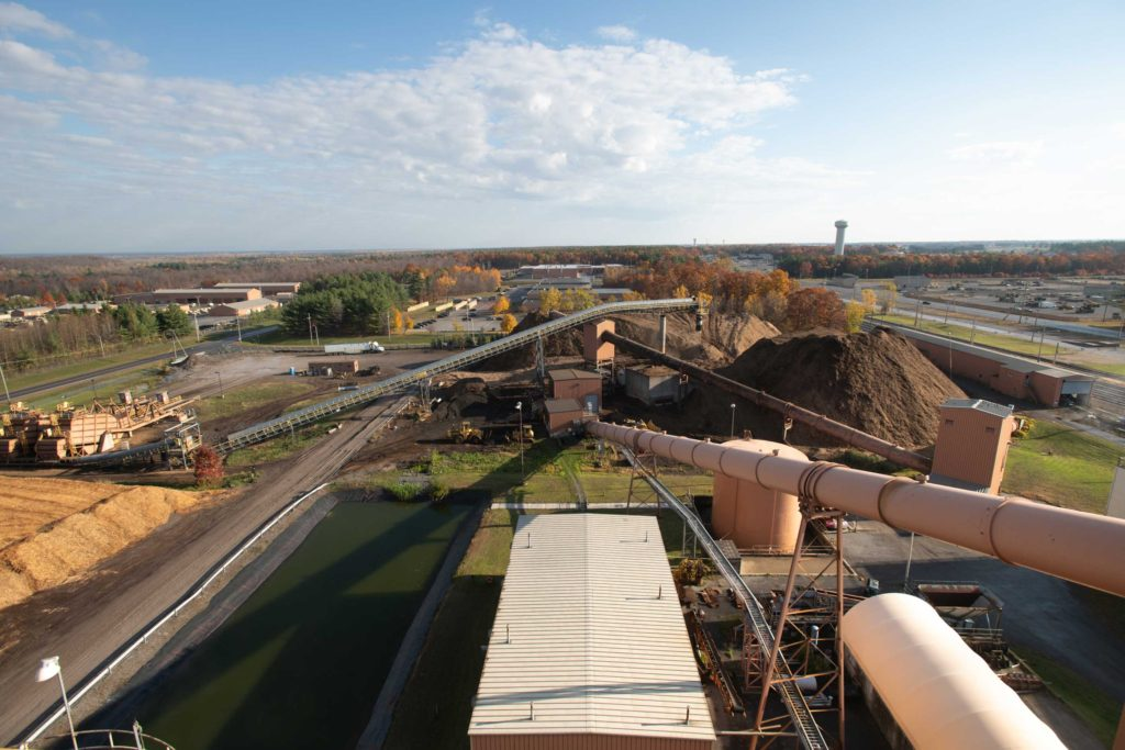 Aerial Wide Shot of ReEnergy Black River Facility
