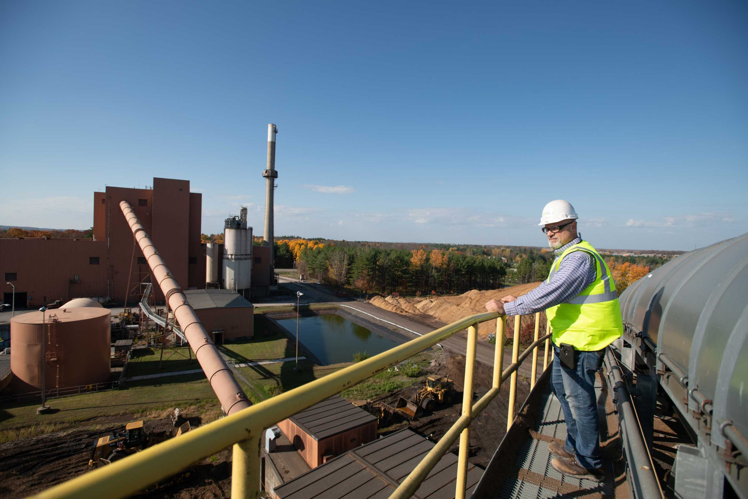 Employee Overlooking Operations at ReEnergy Black River