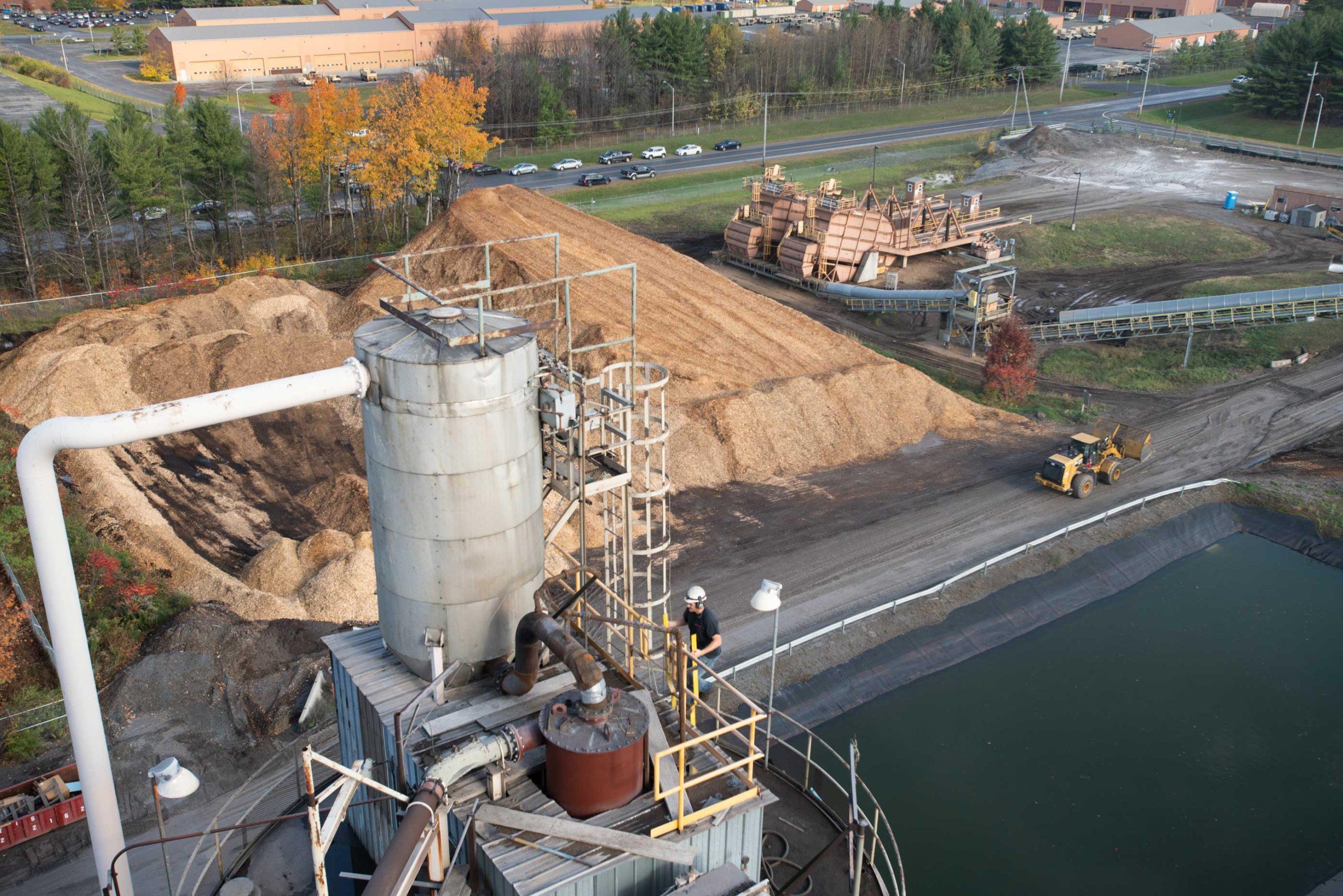 ReEnergy Black River Employee Outside Facility