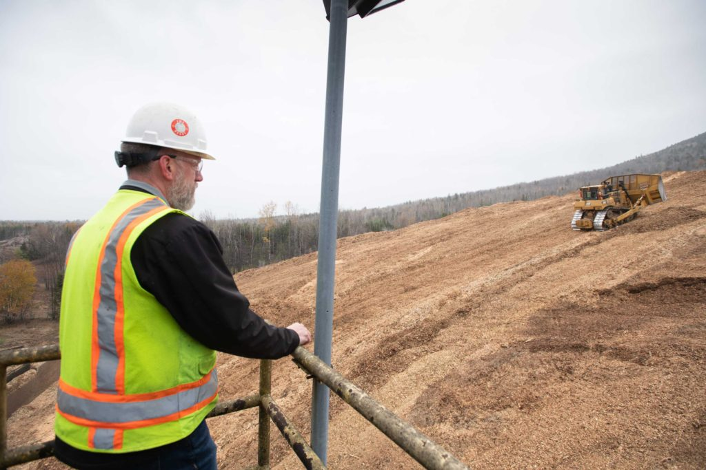 Employee Overseeing Operations at ReEnergy Stratton